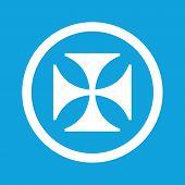 picture of maltese-cross  - Image of maltese cross in circle - JPG