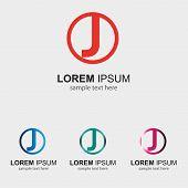 foto of letter j  - Letter J logo design template letter J icon - JPG