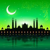 picture of eid ka chand mubarak  - easy to edit vector illustration of Eid Mubarak - JPG