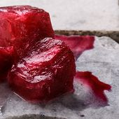 picture of sorrel  - Frozen hibiscus tea also known as karkade agua fresca or red sorrel on a marble plate - JPG