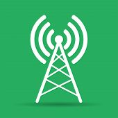 pic of antenna  - Antenna icon Vector flat Illustration EPS 10 - JPG