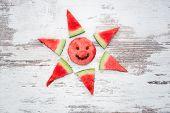 foto of watermelon slices  - concept summer love - JPG
