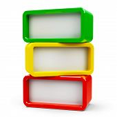 picture of three-dimensional  - Three color rectangle  - JPG