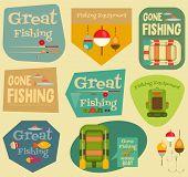 pic of fishing bobber  - Fishing Stickers Set - JPG