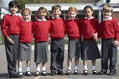 picture of playground school  - Portrait Of Elementary School Pupils In Playground - JPG