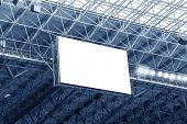 picture of grandstand  - Electronic billboard display at stadium - JPG