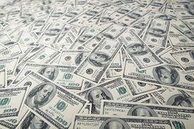 image of 100 dollars dollar bill american paper money cash stack  - Background with money american hundred dollar bills - JPG