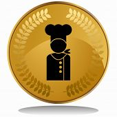 image of chefs hat  - chef coin - JPG