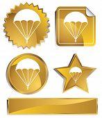 parachute icon gold