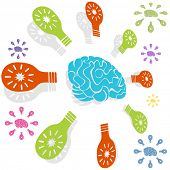 Brain idea icon isolated on a white background.