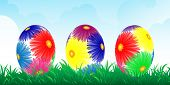 Colour Easter Vector Banner