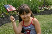 Little girl on Fourth of July