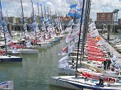 Sea Port With A Lot Of Regattas, Dieppe, France