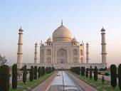 pic of mahabharata  - Taj Mahal front view with the water cannal  - JPG