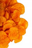 stock photo of potato chips  - Barbeque Potato Chips  - JPG