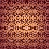 Seamless Ornamental Wallpaper Pattern, Vector Illustration