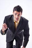 Portrait Of Tough Businessman