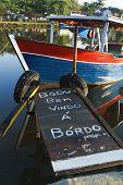 Vorstand Rampe auf Holzboot
