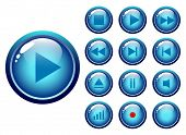 glossy Buttons-Audio-Video-Medien-Controller - Vektor-illustration