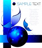 blue abstract background - vector illustration - jpeg version in my portfolio
