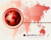abstract futuristic world map background - vector illustration
