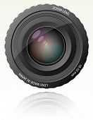 Cámara zoom lens - ilustración vectorial