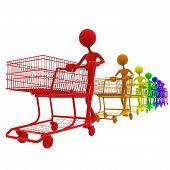Carrinhos de compras de todo o espectro