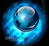 Blau abstrakt Business Stueck - Vektor-illustration