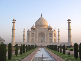 picture of mahabharata  - Taj Mahal front view with the water cannal  - JPG