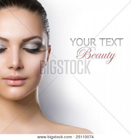 Постер, плакат: Красивая Мода роскошный макияж, холст на подрамнике