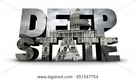 Deep State Politics Symbol Concept