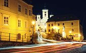 image of banska  - Banska Stiavnica in the night - JPG