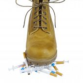Yellow Shoes On Cigarettes And Drugs