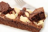 Fatia de Brownie de chocolate