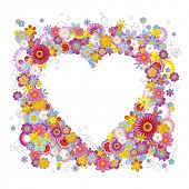 floral heart frame - raster-version of img. no. 21473761