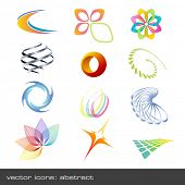 set of abstract vector-icons