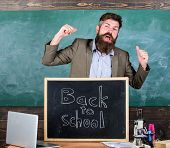 Teacher Or Educator Welcomes Inscription Back To School. Teacher Educator Welcomes New Enrollees To  poster