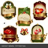 conjunto de vetores: etiquetas de Natal