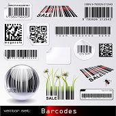picture of barcode  - vector set - JPG