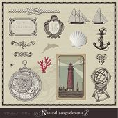 Vector Set: nautische Design-Elemente (2)