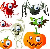 stock photo of corpses  - vector halloween set 3 - JPG