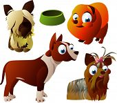 vector animal set 94: dogs