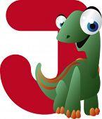vector dino alphabet: J is for jobaria