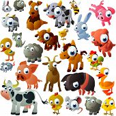 stock photo of piglet  - extra big set of farm animals - JPG