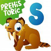 Animais pré-históricos: S é para gato de dente-de-Sabre
