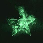 Pentagram Symbol. Green Symbol Green Symbol Green Symbol poster