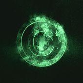 Copyright Symbol. Green Symbol Green Symbol Green Symbol poster