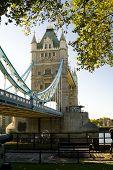 London scene, The Tower Bridge over River Thames.