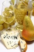 White Wine, Cheese And Pear
