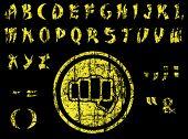 Vector Martial art vintage Font